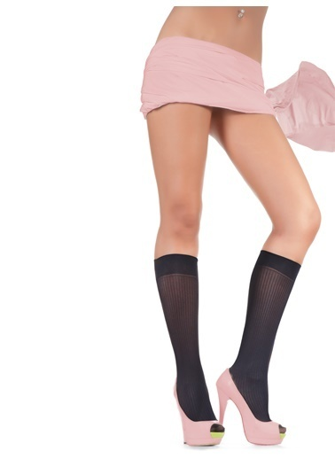 Pierre Cardin 2'li Desenli Dizaltı Çorap Siyah